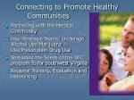 connecting to promote healthy communities