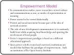 empowerment model