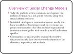 overview of social change models