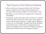 the future of the roma initiative