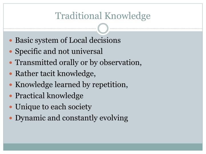 traditional knowledge n.