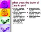 what does the duty of care imply