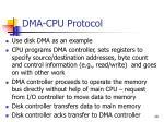 dma cpu protocol