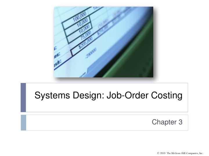 systems design job order costing n.