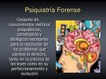 psiquiatr a forense