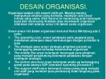 desain organisasi1