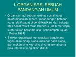 i organisasi sebuah pandangan umum