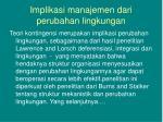 implikasi manajemen dari perubahan lingkungan