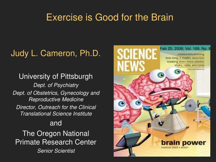 exercise is good for the brain n.