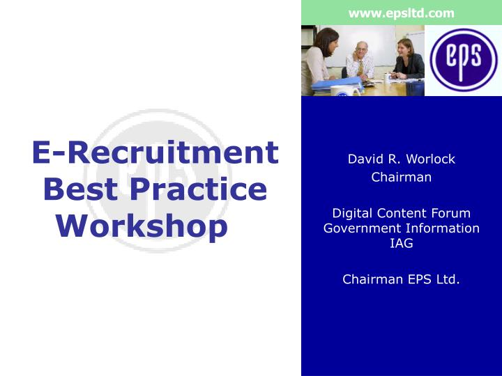 e recruitment best practice workshop n.