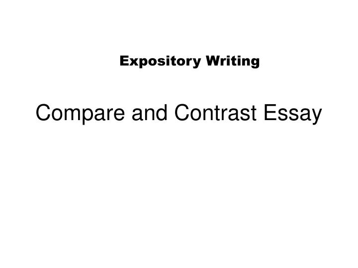 compare and contrast essay n.