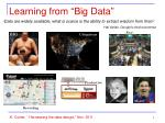 learning from big data