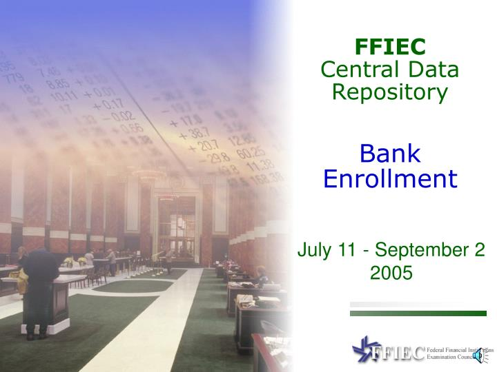 ffiec central data repository bank enrollment n.