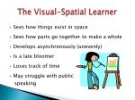 the visual spatial learner