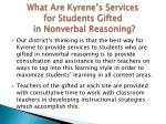 what are kyrene s services for students gifted in nonverbal reasoning1