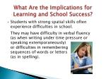 what are the implications for learning and school success2