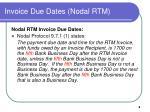 invoice due dates nodal rtm