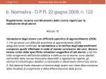 b normativa d p r 22 giugno 2009 n 122