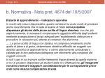 b normativa nota p rot 4674 del 10 5 2007