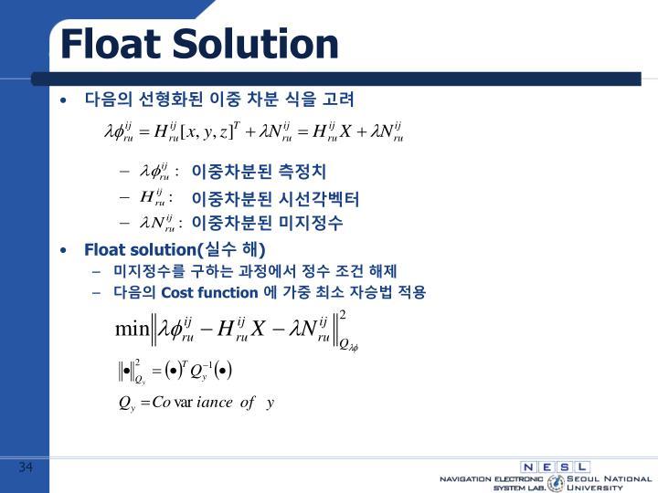 Float Solution