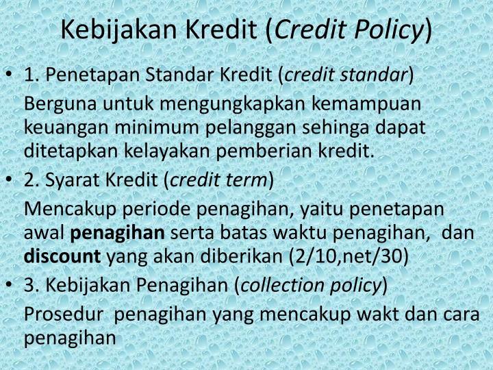 Kebijakan Kredit (