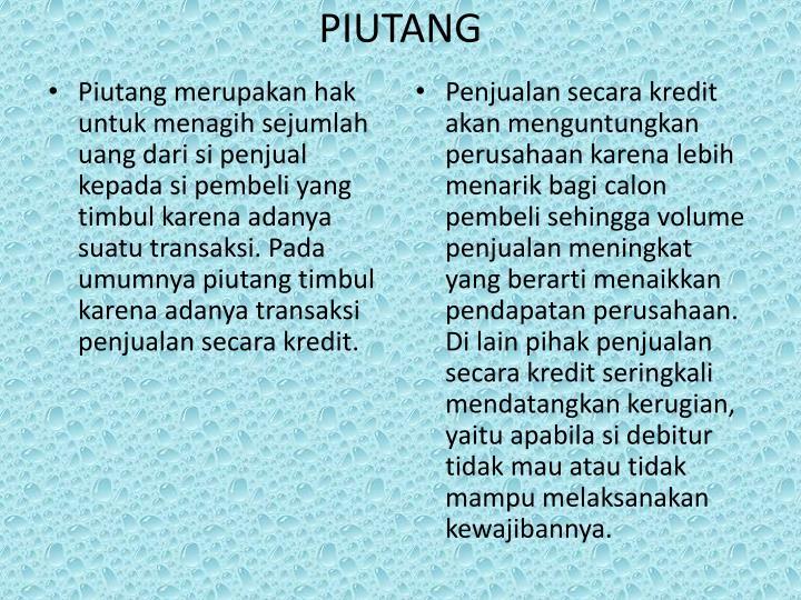 Piutang
