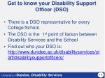get to know your disability support officer dso