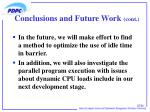 conclusions and future work cont