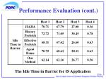 performance evaluation cont1