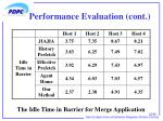 performance evaluation cont2