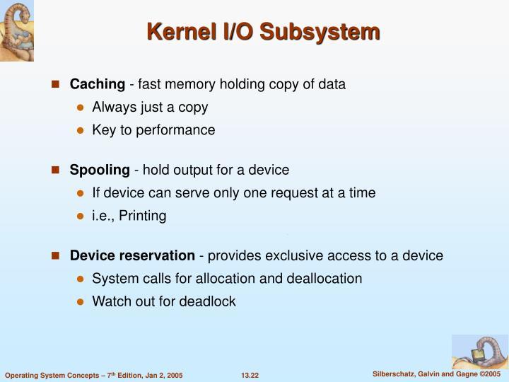 Kernel I/O Subsystem