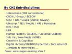 by chi sub disciplines