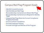 campus red flag program goals