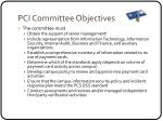 pci committee objectives