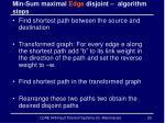 min sum maximal edge disjoint algorithm steps