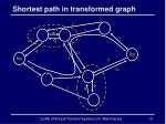 shortest path in transformed graph