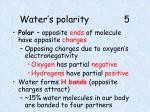 water s polarity 5