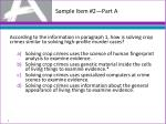 sample item 2 part a