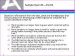 sample item 3 part b