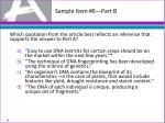 sample item 6 part b