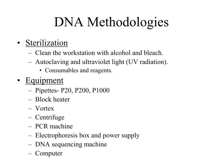 dna methodologies n.