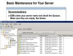 basic maintenance for your server1