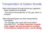 transportation of carbon dioxide