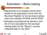 estimation back casting2