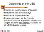 objectives of the ues