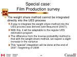 special case film production survey5