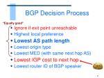 bgp decision process