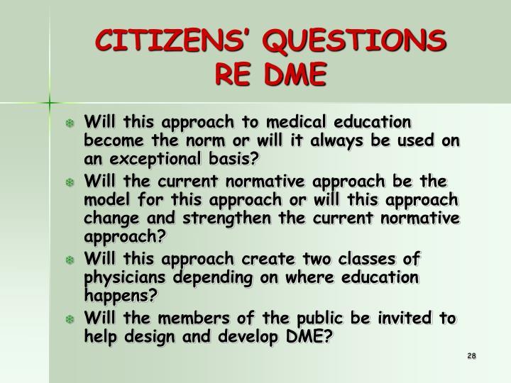 CITIZENS' QUESTIONS
