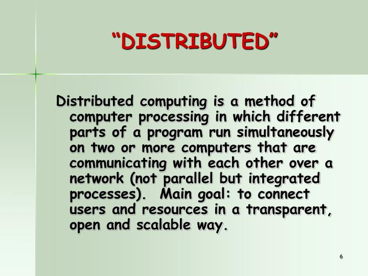 """""""DISTRIBUTED"""""""