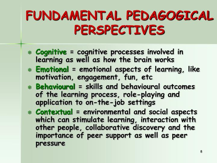 FUNDAMENTAL PEDAGOGICAL PERSPECTIVES